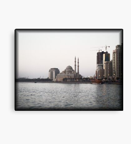 The White Mosque Canvas Print