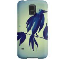Sumi-e Indigo Bird Study Samsung Galaxy Case/Skin