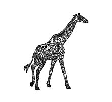 Printed Giraffe by eliannadraws