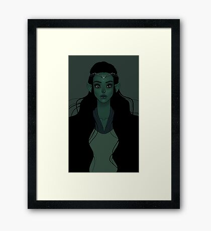 The Elf Queen Framed Print