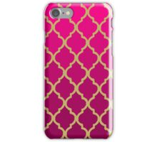 Moroccan Pattern - Pink & Gold iPhone Case/Skin