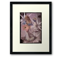 He loves me...-COLLABORATION WITH ARTIST JD Framed Print