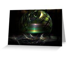 Melting Glass Ball Greeting Card