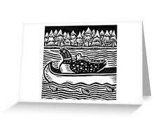 Loon in Canoe Greeting Card