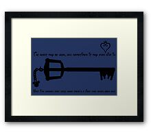 Deep Down There's a Light That Never Goes Out Framed Print