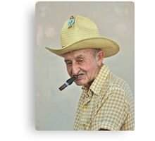 Old Man and the Cigar Canvas Print