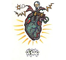 SHOCKING! The Electric Heart - COLOR VERSION Photographic Print