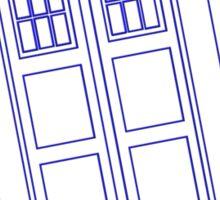 Blue box outline Sticker