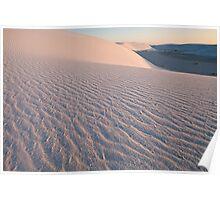 White Sands Blush Poster