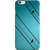 birds on a wire... iPhone Case/Skin