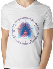 Blues O' Clock Mens V-Neck T-Shirt