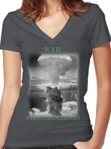 War Never Changes Women's Fitted V-Neck T-Shirt