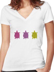 Turtles (girl) Women's Fitted V-Neck T-Shirt