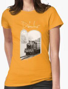 Train Through White Oak Doors Womens Fitted T-Shirt