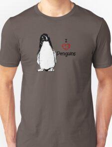 I Heart Penguins  Unisex T-Shirt