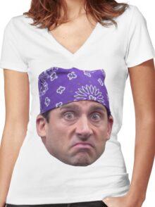 Pri$on Mik3 Women's Fitted V-Neck T-Shirt