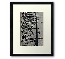Track bikes at Edwardstown Framed Print