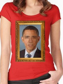 Cage for President Women's Fitted Scoop T-Shirt