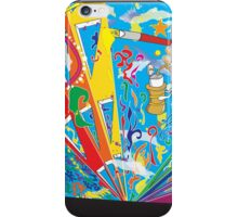 Abstract Mural Illustration iPhone Case/Skin
