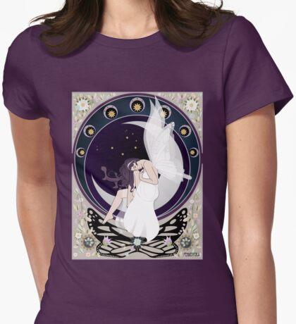 Fairy art nouveau Womens Fitted T-Shirt