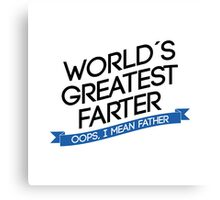 world´s greatest father Canvas Print