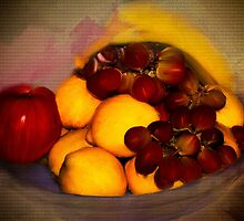 Still Life is Just a Bowl of Fruit by Diane Schuster