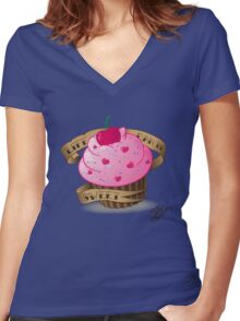 Life can be sweet Women's Fitted V-Neck T-Shirt