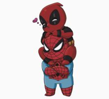 Deadpool and Spiderman Chibis Kids Clothes