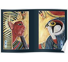 Seti and Ra-Horakhty diptych Poster