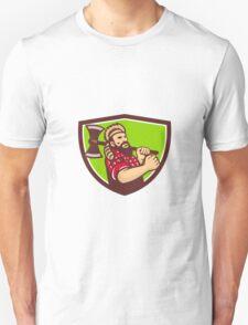 Lumberjack Axe Shield Retro T-Shirt