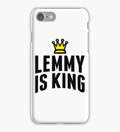 Lemmy Crowned King iPhone Case/Skin