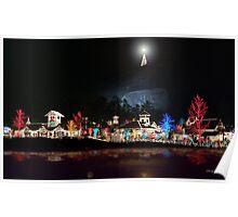 Merry Christmas - Stone Mountain, Ga. Poster