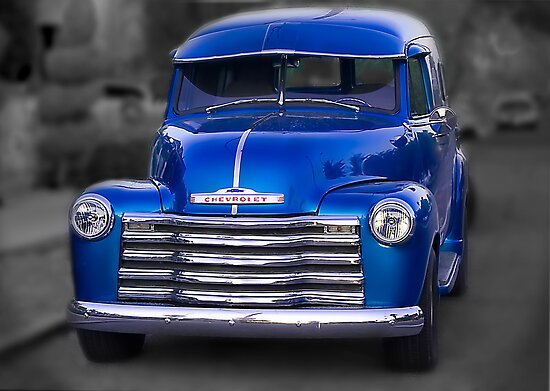 1950 chevy panel truck posters by lynn geoffroy redbubble for 1950 chevy truck door panel