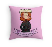 Red in My Ledger Throw Pillow