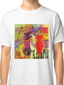 Woman in Red Classic T-Shirt