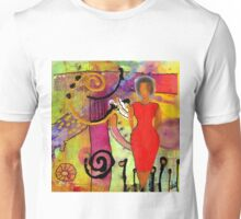Woman in Red Unisex T-Shirt