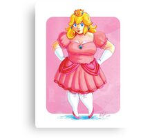Plump and proud Peach Canvas Print