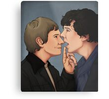 Shut up, Sherlock Metal Print