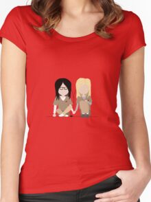 I Heart You - Alex and Piper Stylized Print Women's Fitted Scoop T-Shirt