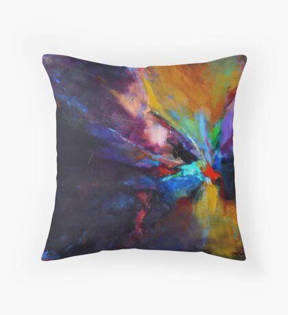 Flow,  from original Mixed Media Abstract Painting by Madeleine Kelly Throw Pillow