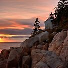 Bass Harbor Lighthouse Sunset by Rob Lodge