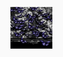 Purple Butterflies in Shades of Grey Classic T-Shirt