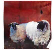 Frick and Frack - Sheep, from original oil painting by Madeleine Kelly Poster