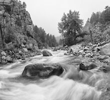Fisherman's Panorama Colorado Canyon View BW by Bo Insogna