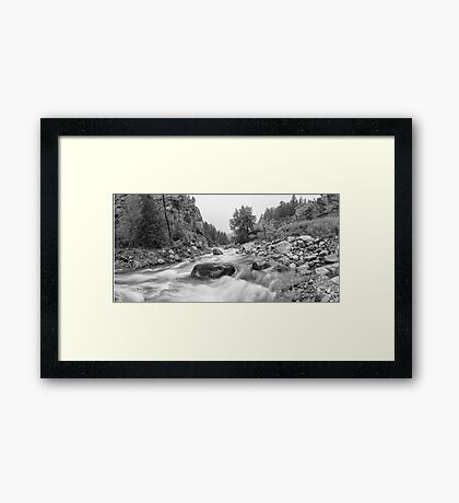 Fisherman's Panorama Colorado Canyon View BW Framed Print