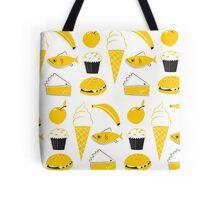 Retro Food Pattern Tote Bag