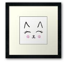 Cute Cat Face Framed Print