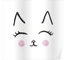 Cute Cat Face Poster