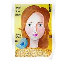 """Mixed Media """"Live your Life"""" Poster"""