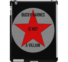 Bucky Barnes is not a Villain iPad Case/Skin